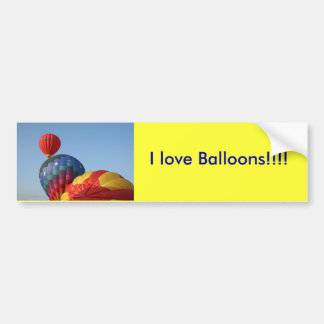Balloons!  Saturn and Stars Car Bumper Sticker