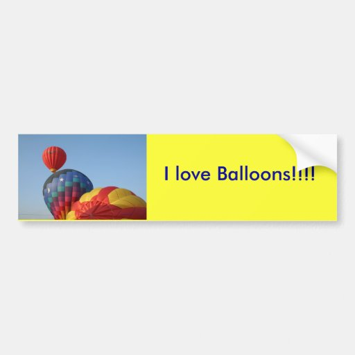 Balloons!  Saturn and Stars Bumper Sticker