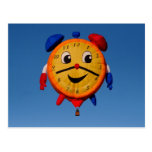 Balloons Shape Clock  6268 Postcard