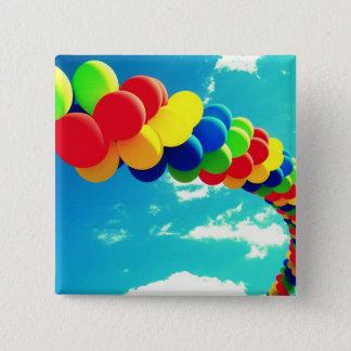 Balloons & Sky Pinback Button