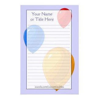 Balloons Stationery