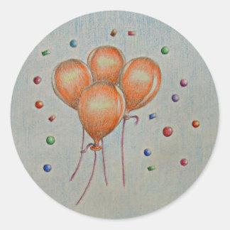 balloons round sticker