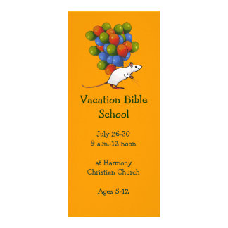 BALLOONS: VACATION BIBLE SCHOOL INVITATION CARDS