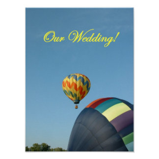 Balloons, wedding invitation poster! poster
