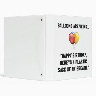 Balloons Weird Binder