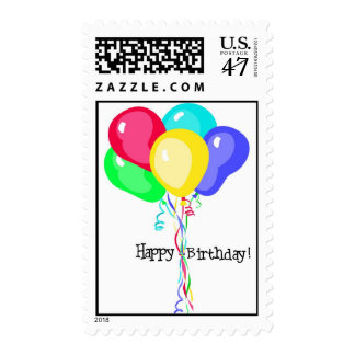 Balloons With Happy Birthday Text Postage