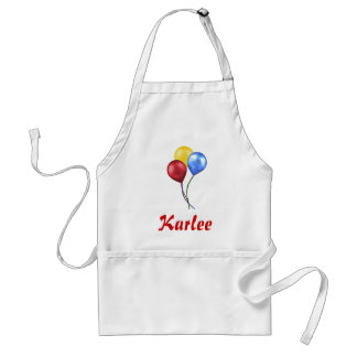 Balloons with name adult apron