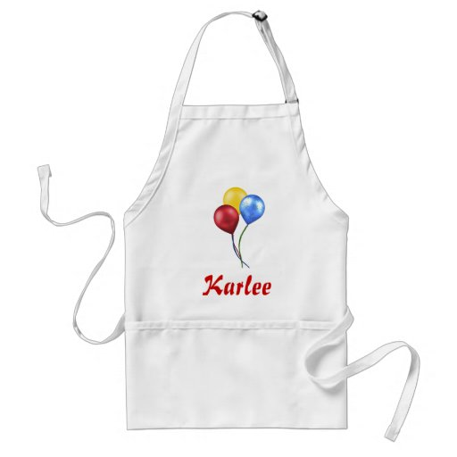 Balloons with name apron