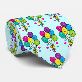 Balloons with Smiles and Laughs Neck Tie