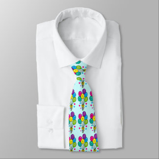 Balloons with Smiles and Laughs Tie
