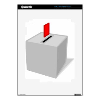 Ballot Box Decals For iPad 2