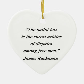 Ballot Box - James Buchanan Ceramic Ornament
