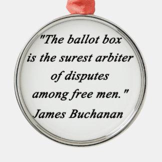 Ballot Box - James Buchanan Metal Ornament