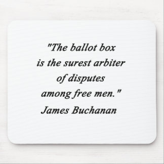 Ballot Box - James Buchanan Mouse Pad