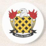 Ballou Family Crest Drink Coaster