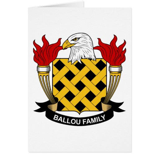 Ballou Family Crest Greeting Card