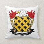 Ballou Family Crest Throw Pillows