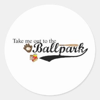 Ballpark Classic Round Sticker