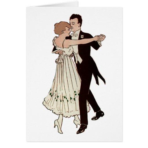 Ballroom Couple Greeting Cards