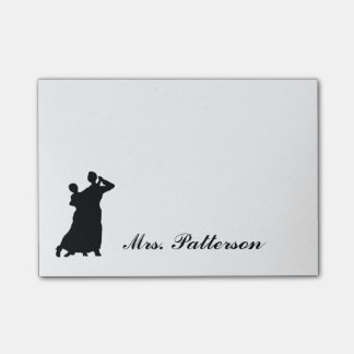 """""""Ballroom Couple"""" Personalized Post-its Post-it® Notes"""