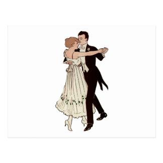Ballroom Couple Postcard