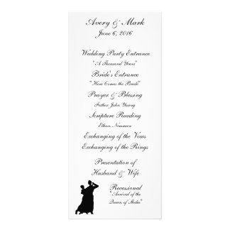 """Ballroom Couple"" Wedding Programs"