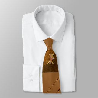 Ballroom Dance Brown Necktie