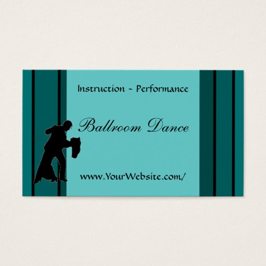 Ballroom Dance - business card template