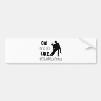 Ballroom dance designs bumper sticker