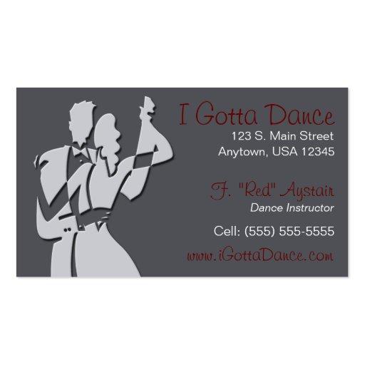 ballroom dance instructor business card zazzle