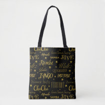 Ballroom Dance Pattern | Custom Background Color Tote Bag