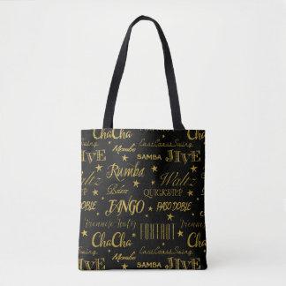 Ballroom Dance Pattern | Custom Background Color Tote Bag