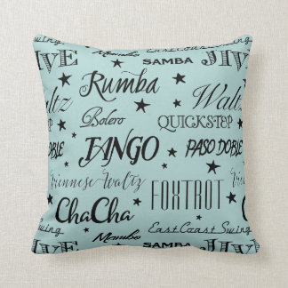 Ballroom Dance Repeat Pattern | Choose Your Color Throw Pillow