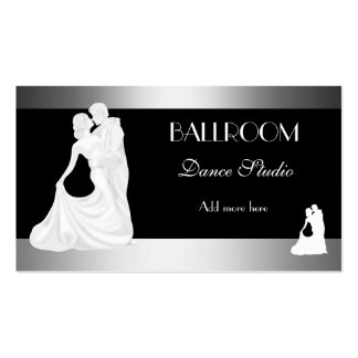 BALLROOM Dance Studio Dancing Lessons 2 Double-Sided Standard Business Cards (Pack Of 100)