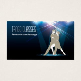 Ballroom Dancers in the Spotlight Tango Classes Business Card