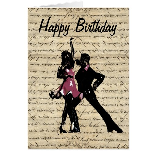 Ballroom dancers on vintage paper cards