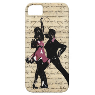 Ballroom dancers on vintage paper iPhone 5 cover