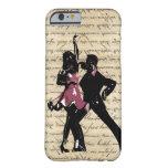 Ballroom dancers on vintage paper iPhone 6 case