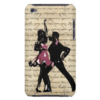 Ballroom dancers on vintage paper iPod touch case