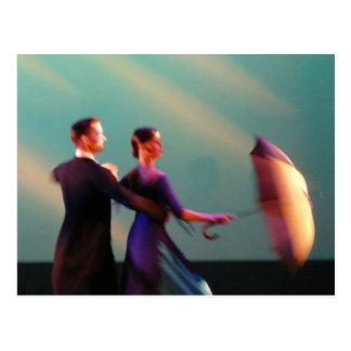 Ballroom Dancers with Umbrella Postcard