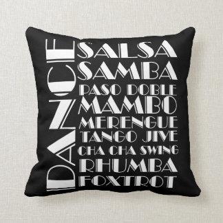 ballroom dances throw pillow