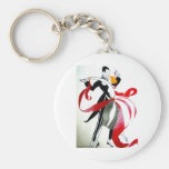 BALLROOM DANCING 2 BLACK AND WHITE/COLOR KEY CHAINS