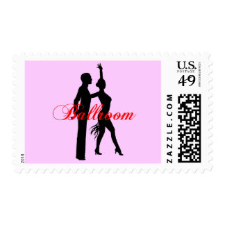 Ballroom Dancing 3 Postage Stamp