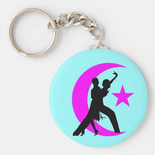 Ballroom Dancing Basic Round Button Keychain