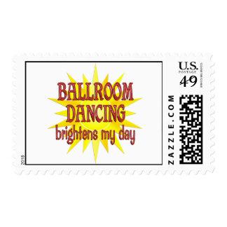 Ballroom Dancing Brightens My Day Postage