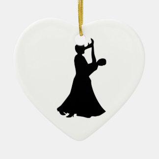Ballroom dancing ceramic ornament
