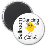Ballroom Dancing Chick 2 Inch Round Magnet