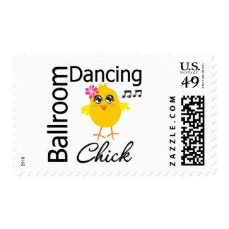 Ballroom Dancing Chick Stamp