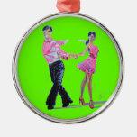 Ballroom Dancing Christmas tree ornament Cha Cha