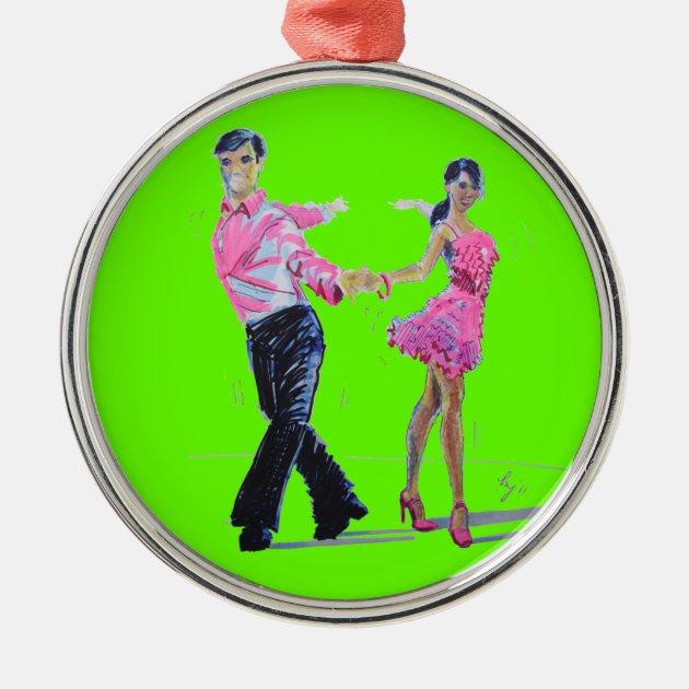 Ballroom Dancing Christmas tree ornament Cha Cha | Zazzle.com